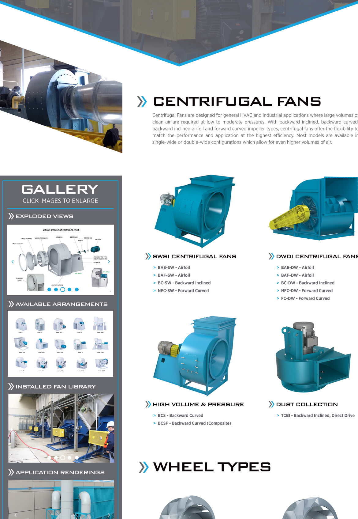 Tcf Azen Fans And Impellers For Industrial And